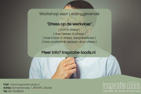 workshop: stress op de werkvloer
